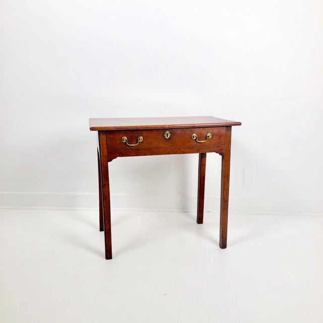 Metal Chippendale Mahogany One Drawer Table, England Circa 1780 For Sale - Image 7 of 7
