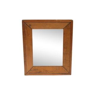 Antique Pine-Framed Wall Mirror
