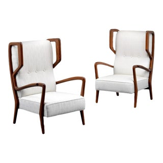 Mid 20th Century Rare Orlando Orlandi Lounge Chairs - a Pair For Sale