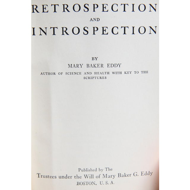 """Booth & Williams 1923 """"Mary Baker Eddy Boxed Set, S/5"""" Collectible Book For Sale - Image 4 of 6"""