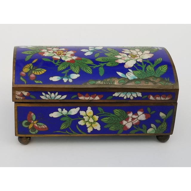Antique Chinese Cloisonne Box For Sale - Image 4 of 11