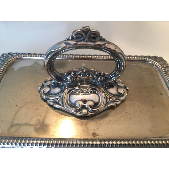 Metal Antique Mappin & Webb English Silver Covered Vegetable Dish For Sale - Image 7 of 13