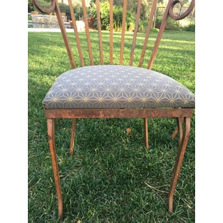 Vintage Mid Century Iron Patio Chairs- a Pair Preview