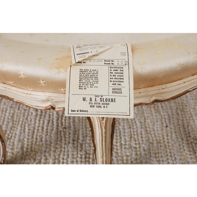 Pair of French Provincial Five-Leg Slipper Chairs For Sale - Image 11 of 13