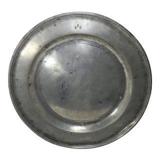 18th Century Newcastle England Pewter Charger For Sale