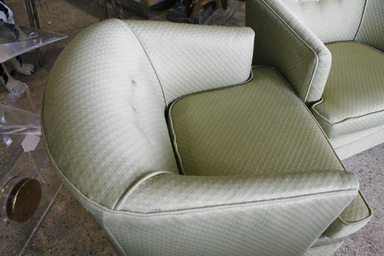 Fabric Vintage Milo Baughman Swivel Tub Chairs   A Pair For Sale   Image 7  Of