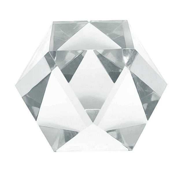 Stunning and beautiful Lucite sculpture by Amparo Calderon Tapia. The piece is beautifully crafted, the faceted cuts makes...