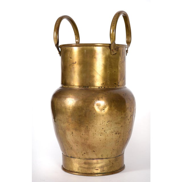 9677676b8e11 Mid 20th Century Indoor Outdoor Brass Umbrella Stand For Sale In New York -  Image 6