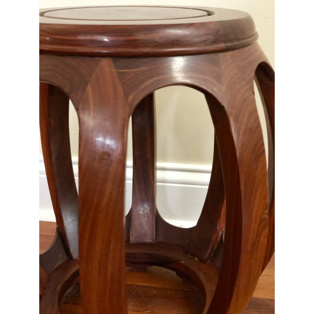 Superb Vintage Asian Rosewood Garden Stool Barrel Drum Table Gmtry Best Dining Table And Chair Ideas Images Gmtryco