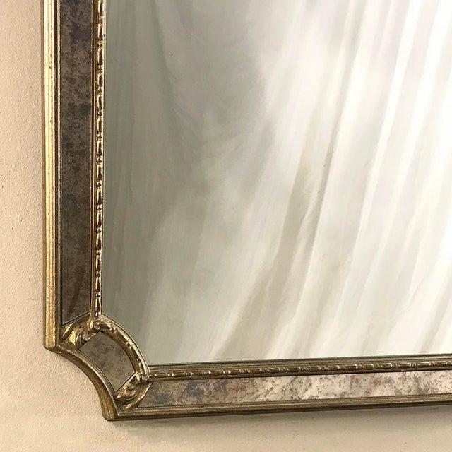 Mid-Century Italian Venetian Gilded Mirror For Sale - Image 9 of 13