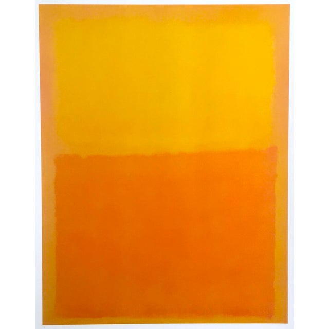 """Mark Rothko Vintage 1990's Abstract Expressionist Lithograph Print Poster """" Orange and Yellow """" 1956 For Sale - Image 10 of 10"""
