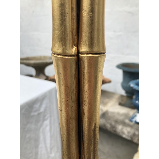 Gold Gilt Metal Faux Bamboo Floor Lamp by Circa Lighting For Sale - Image 8 of 13