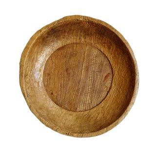 Old Javanese Teak Drum Bowl For Sale