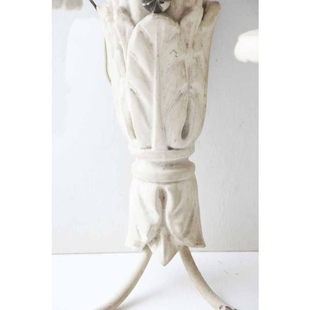 White White Wood Sconces With Cornucopia Motif - A Pair For Sale - Image 8 of 11