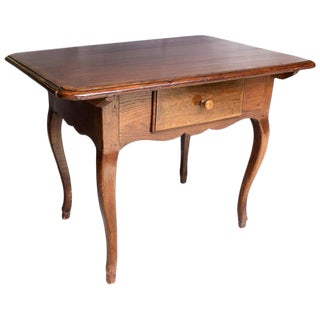 17th Century Antique Louis XV French Chestnut Desk / Side Table For Sale