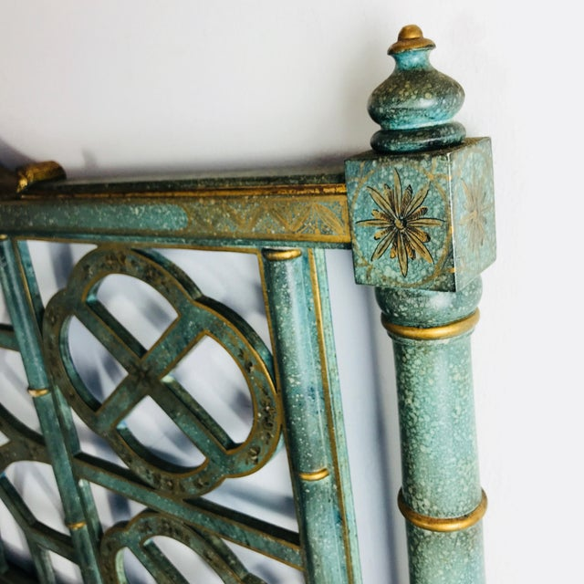 Turquoise Pair of Twin Chinoiserie Pagoda Beds by Kittinger For Sale - Image 8 of 12