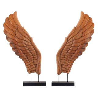 Wooden Décor Wings I - A Pair