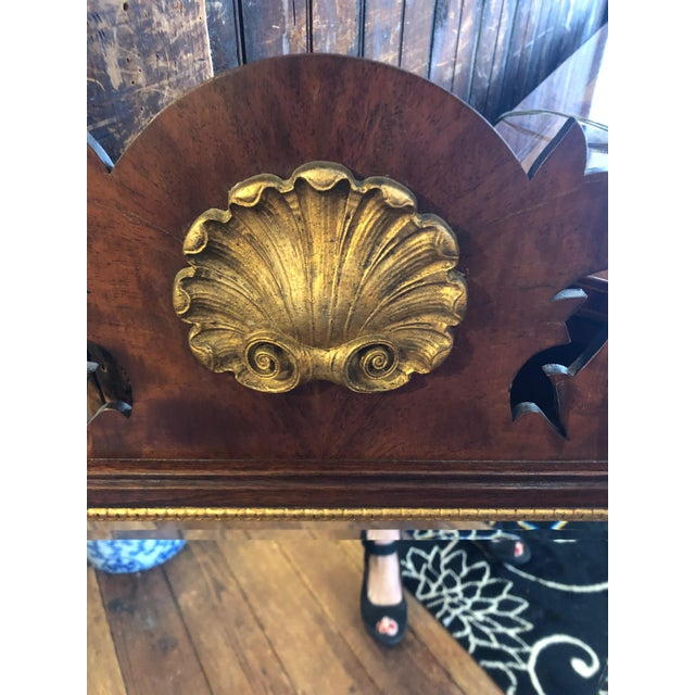 Brown 1950s Vintage Traditional Henkel Harris Mahogany Neoclassical Mirror For Sale - Image 8 of 9