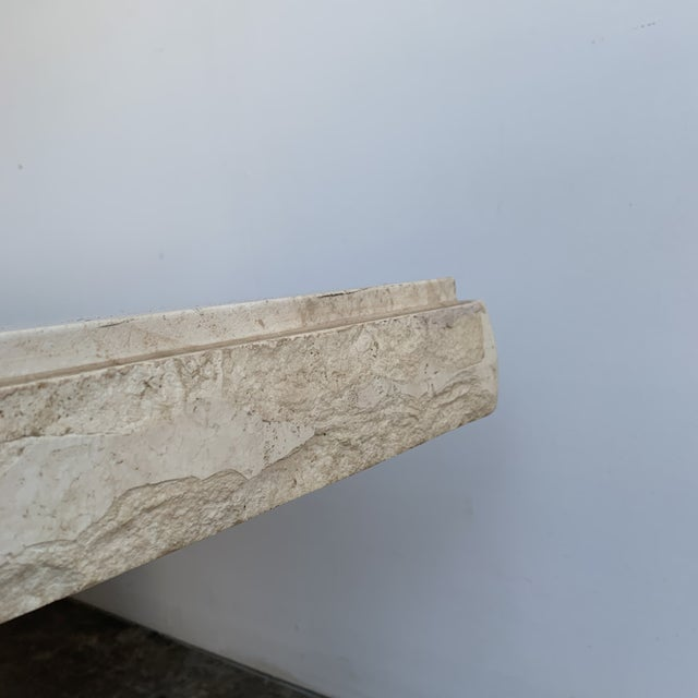 Textured Edge Travertine Coffee Table For Sale - Image 12 of 13