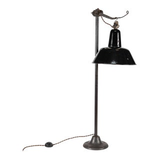 Industrial Metal Light Mounted on Stand For Sale