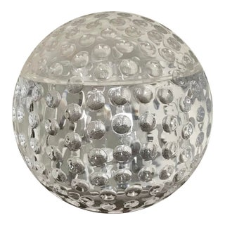 Contemporary Clear Plastic Ball Shaped Ice Bucket With Lid