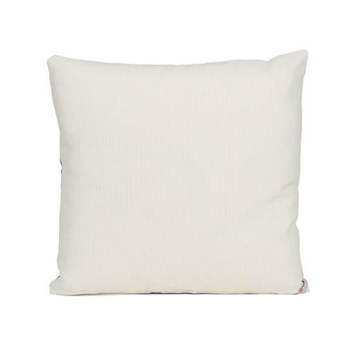 "By Kim Salmela, a 20"" x 20"" pillow in designer fabrics. Single face with ivory back, knife edge finish, hidden zipper..."