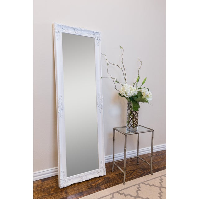 Full Length Wood Frame Mirror- Traditional, Full Body, Dressing Mirror with Molding Detail | Beveled Glass | Hand Finished...