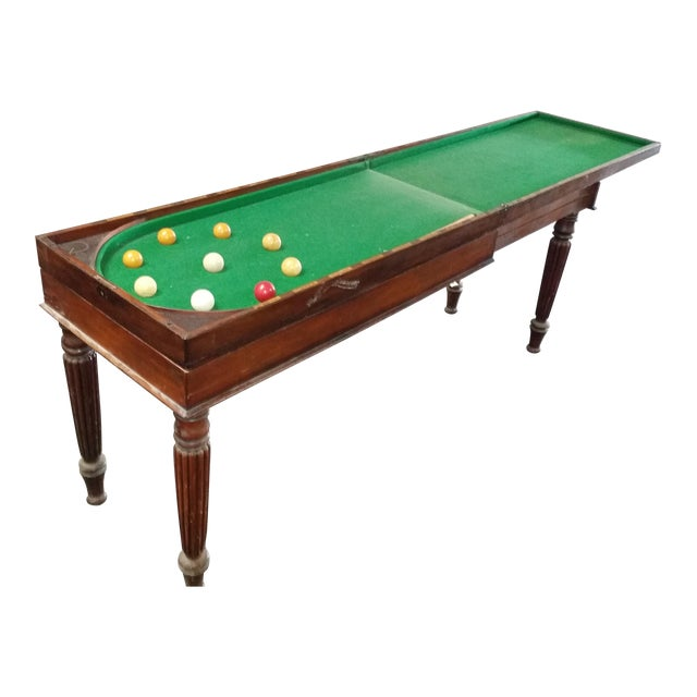 S Georgian Folding Bagatelle British Pub Billiard Table Chairish - British pool table