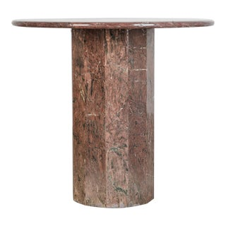 1970s Italian Marble Side Table For Sale