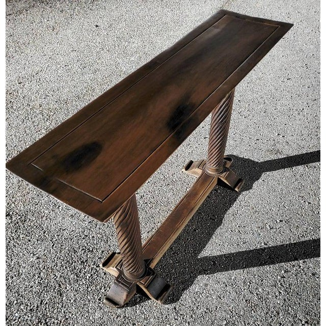 Early 20th Century Spanish Baroque Old World Console Table For Sale In Austin - Image 6 of 11