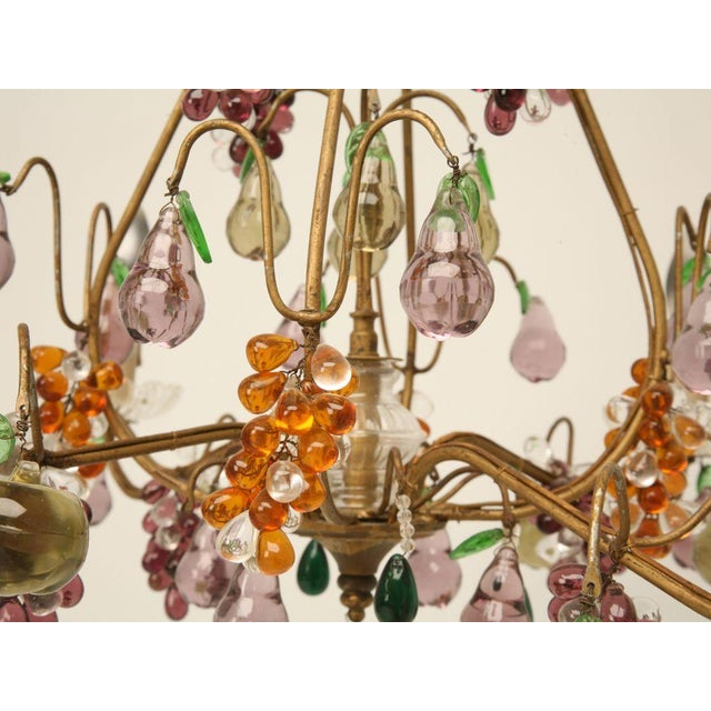 Exceptional french four light crystal fruit chandelier circa 1920 french four light crystal fruit chandelier circa 1920 image 11 of 11 mozeypictures Images