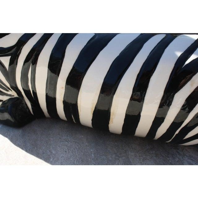 Vintage Mid-Century Modern Ceramic Zebra - Image 4 of 8