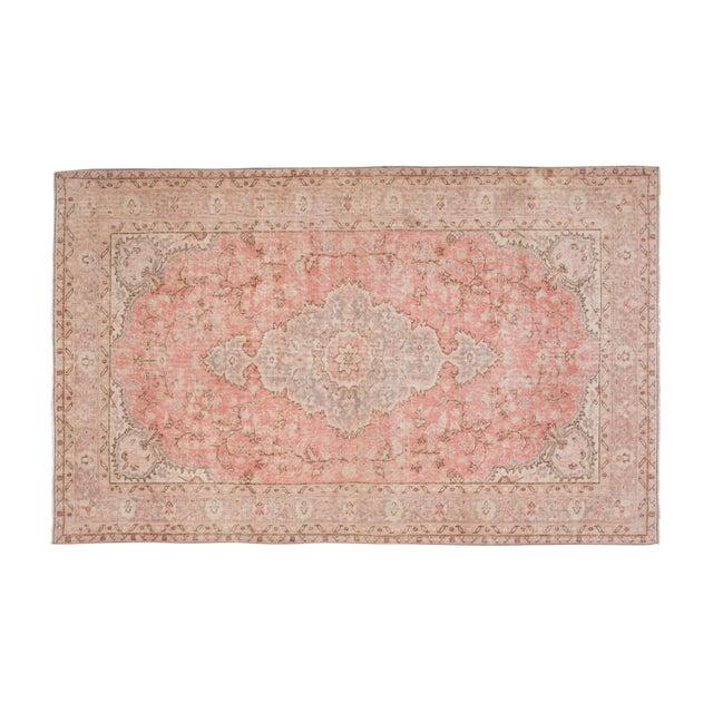 """Vintage Floral Woolen Sparta Rug 6' X 8'9"""" For Sale - Image 11 of 11"""