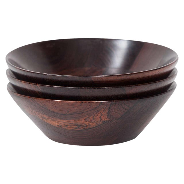 Trio of Danish Rosewood Bowls by Laurids Lonborg for Illums Bolighus - Image 1 of 9