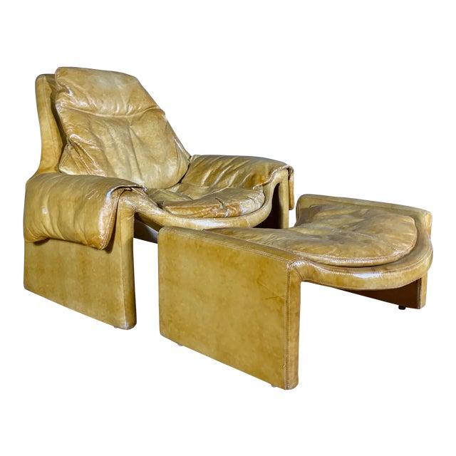 1960s Vittorio Introini for Saporiti Lounge & Ottoman For Sale
