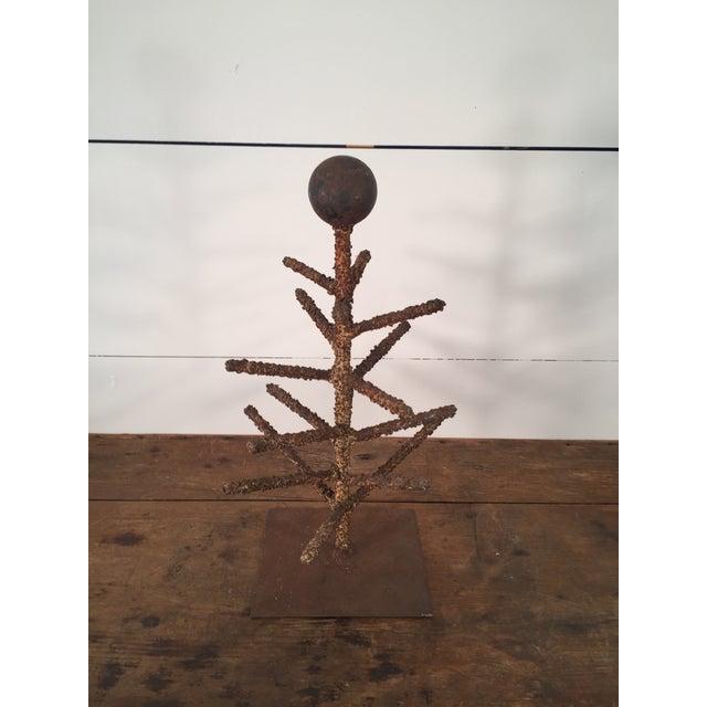 Brutalist Folk Art Tree Sculpture - Image 3 of 8