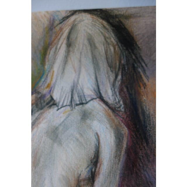 Thinking of You, Pastel on Paper Drawing - Image 3 of 4