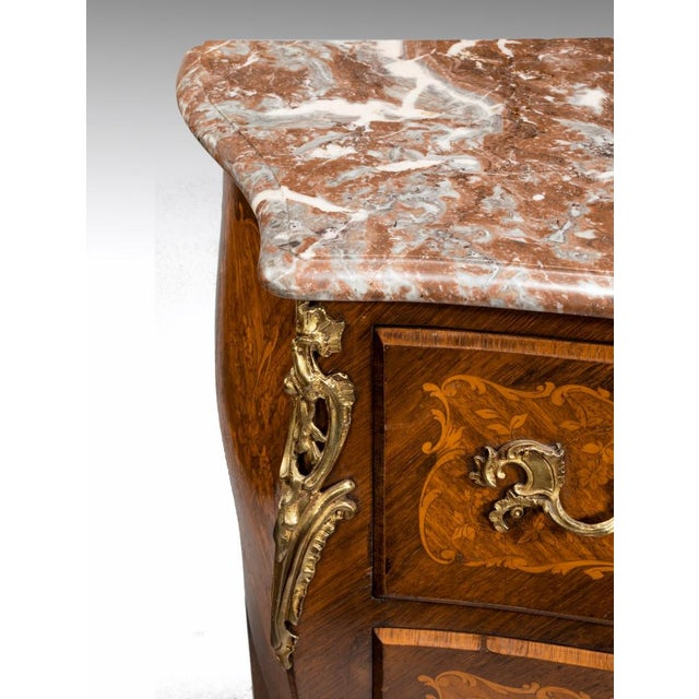 English Traditional A 19th Century Inlaid Commode, Circa 1850 For Sale - Image 3 of 8