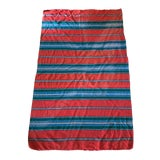Image of 1970s Vintage Mexican Saltillo Wool Serape Blanket For Sale