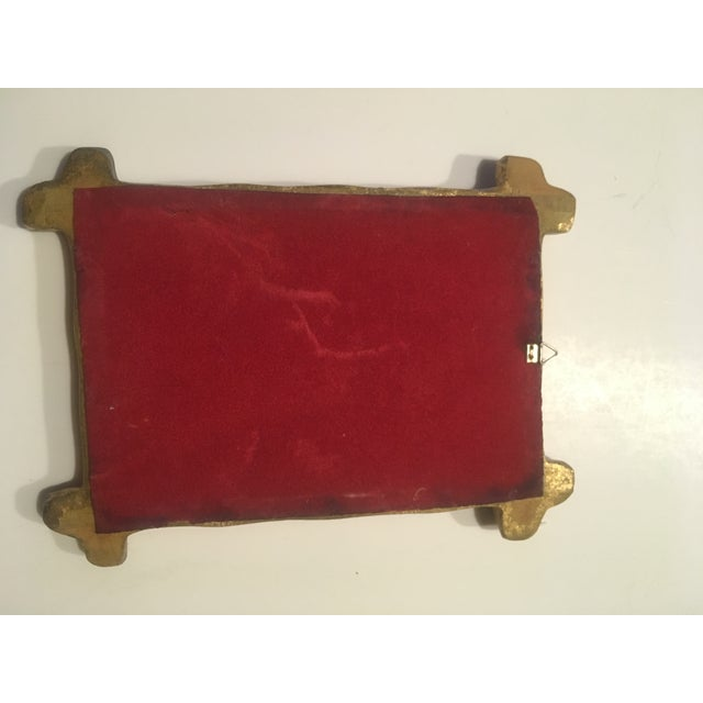 Children's Italian Wood Florentine Gold Faux Bamboo Mirror For Sale - Image 3 of 6