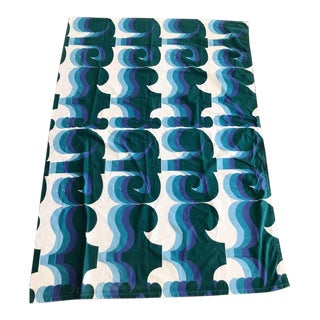 1965 Mid-Century Modern Barbara Brown 'Omega' Curtain Panel For Sale