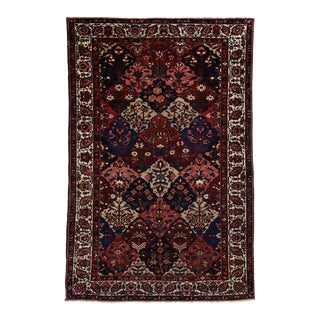 Antique Persian Bakhtiari Rug with Four Season Garden Design