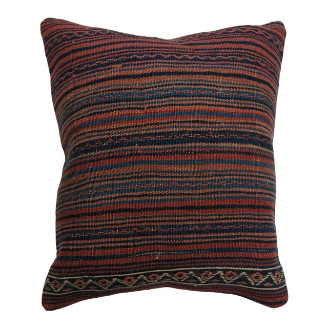 Large Striped Kilim Pillow For Sale