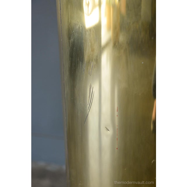 1980s Vintage Curtis Jere for Artisan House Illuminated Brass Pedestal Stand For Sale - Image 9 of 12