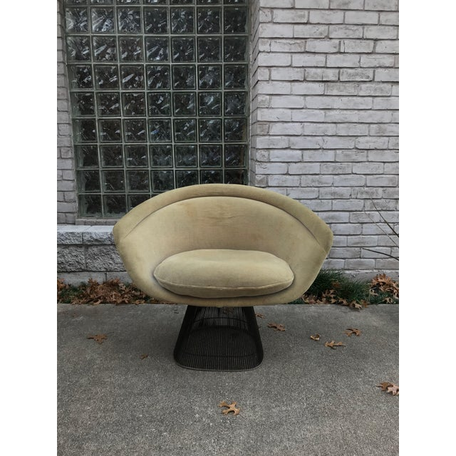 Original Knoll Sandstone velvet fabric. Iconic piece of mid century modern designer furniture. This listing is only for...