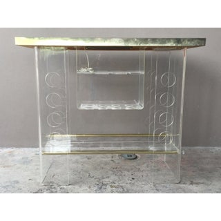 70's Mod Space Age Lucite Bar with 2 Lucite Bar Stools Preview