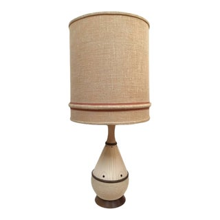 Mid Century Modern Lamp With Original Shade For Sale