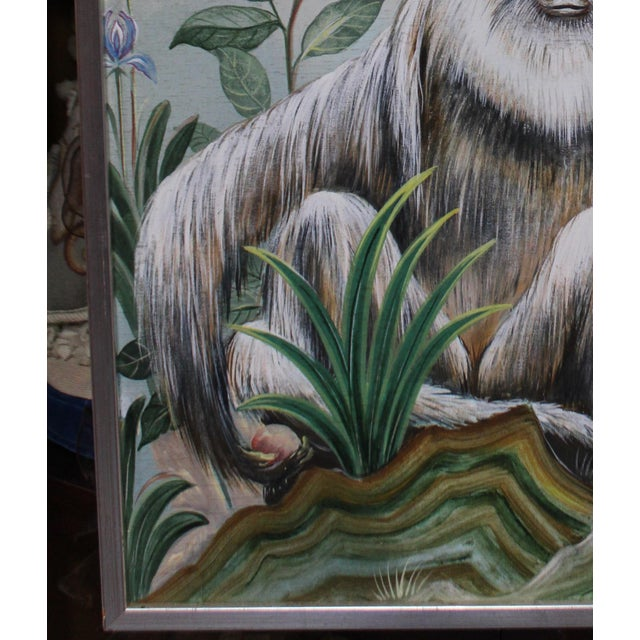 Late 20th Century Decorative Monkey Painting For Sale - Image 4 of 8