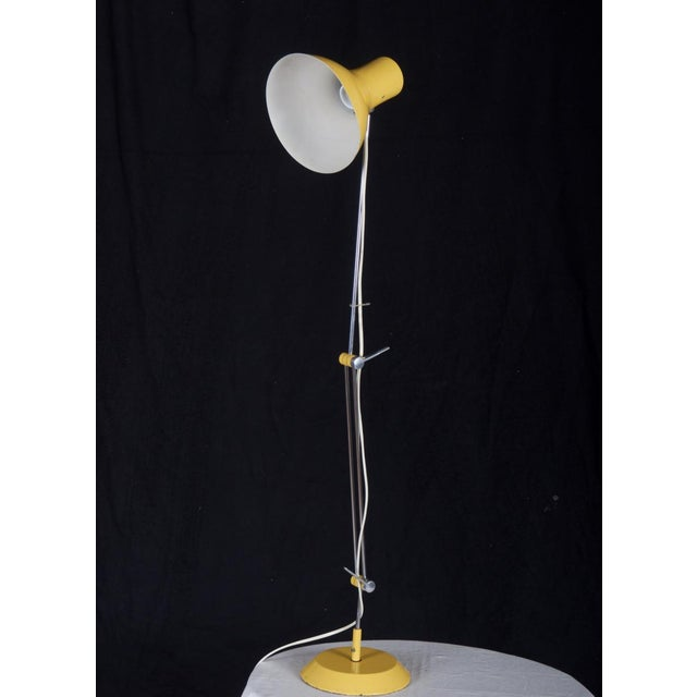 Mid-Century Modern Yellow Czech Table Lamp by Josef Hurka for Napako, 1970s For Sale - Image 3 of 8