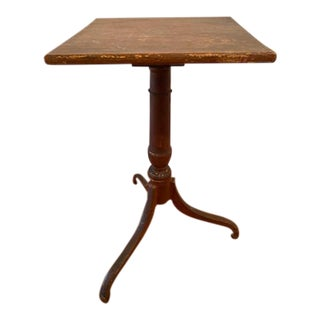 Early 19th Century Candle Table For Sale